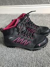 Gelert Horizon Ladies Walking Boots Size 5 Black/Charcoal/Pink