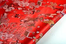 ORIENTAL SILK DAMASK JACQUARD BROCADE FABRIC TAPESTRY: CHINESE KINDER GARDEN
