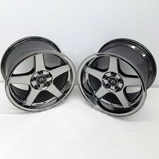 "17"" Black Chrome 03 Mustang Cobra Deep Dish Wheels 17x9 17x10.5 5x114.3 94-04"