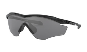 Oakley M2 Frame XL POLARIZED Sunglasses OO9343-09 Polished Black W/Black Iridium
