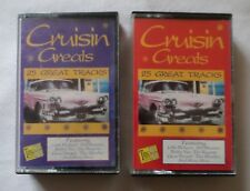 Various Artists: CRUISIN' GREATS - Volume A & B (50 Track Double Cassette Tape)