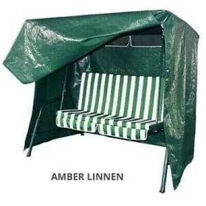 Waterproof 3 seater Garden swing seat Furniture cover Green
