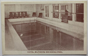 BALTIMORE MARYLAND Hotel Biltmore Vintage Swimming Pool View Photo Postcard