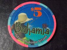 New ListingBahamia Casino $5 casino gaming poker chip ~ Grand Bahamas Island, Bahamas