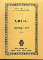 GRIEG : Holberg Suite Op. 40 ~ Studienpartitur