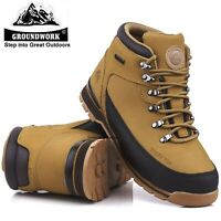 MENS GROUNDWORK LIGHTWEIGHT STEEL TOE CAP SAFETY SHOES WORK HIKER PPE BOOTS SIZE