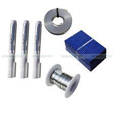 108 PCS 39x26mm Mini PV Poly Solar Cell & 65ft Tab 16ft 3x 10ml Flux Pen for Toy
