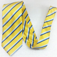 Cravatta uomo seta giallo blu bianco  Regimental Made in Italy business sposo