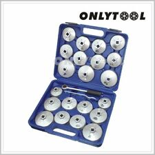 23pcs Aluminum Alloy Cup Type Oil Filter Cap Wrench Socket Removal Tool Set