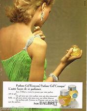 PUBLICITE ADVERTISING 055  1973   JEAN D'ALBRET  parfum femme  GEL ECUSSON CASAQ
