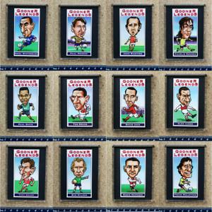 Arsenal Football Club Gooner Legends Card Fridge Magnets - Various Players