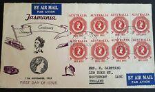 1953 Australia Stamp Fdc - Airmail - Tasmania - 11/11/53