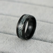 Fashion Black Celtic Dragon Titanium Stainless Steel Men's Wedding Band Rings-