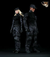 "Fire Girl Toys Black Python Pattern Camouflage Uniform 1/6 F 12"" Male Figures"