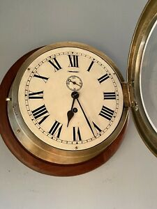 Large Grimshaw Baxter & Elliott Brass Ships clock 1928 Government / Military