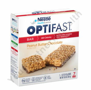 OPTIFAST 800 BARS - PEANUT BUTTER CHOCOLATE - 12 BOXES - 84 SERVINGS - FRESH