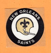 """1969 NEW ORLEANS SAINTS 3"""" OLD 1 BAR HELMET KRAFT BACKED DECAL STICKER Unused"""