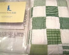 Pottery Barn Kids Baby Checkerboard Decorative Quilted Sham Green White 12x16