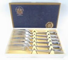 6 Silver Plated Forks By Appointment To The Late King George V Sheffield - boxed