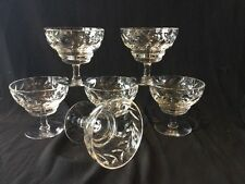 SET OF 6 VINTAGE WEBB CORBETT QUALITY CRYSTAL  BOWLS SWEET DISHES COMPORTS