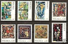 POLAND # 1832-1838, B122 MNH STAINED GLASS WINDOWS, ART