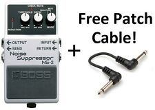 New Boss NS-2 Noise Suppressor Pedal FREE Hosa Patch Cable!