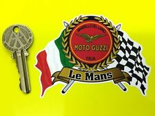 MOTO GUZZI LE MANS Flags & Scroll helmet or motorcycle sticker V7 T3