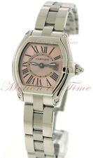 Cartier Roadster Small, Pink Dial - Stainless Steel on Bracelet, Ref # W62017V3