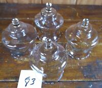 Votive Cups Set of 4 Homco Home Interior Crystal Clear Glass Beaded Edge