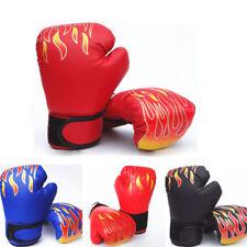 Enfants Gants de Boxe Sparring Battre Kampftraining Noir/Rouge/Bleu Pu