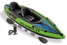 Inflatable Kayak Canoe Boat 2 Man Person Seat Sea River Intex Fishing Kayaking