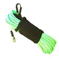 1/4''x50' Synthetic Winch Rope Line green Recovery Cable 10000LB 4WD SUV Pickup