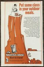1978 Mountain House Freeze Dried Foods Ad Put Some Class in Your Outdoor Meals