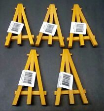 (5) Reeves Mini Wooden Easels For Baseball Cards And Other Smaller Displays