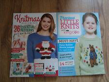 2 x Knitting Pattern Books Precious Little Knits & Knitmas