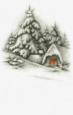 14ct Cross Stitch Kit - Luca-S - Winter Snow Landscape - Counted 19.5 x 21.5 cm