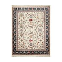 """8'11"""" x 11'8"""" Hand Knotted 100% Wool Traditional Oriental Area Rug Ivory"""