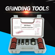 20PC Spindle Sanding Drum Sander Tool Kit with Case for Drill Press High Quality