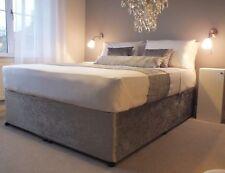 Elasticated Bed Valance Divan Base cover Bed wrap CRUSHED VELVET - 24 COLOURS!