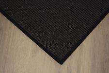 Sisal Teppich umkettelt schwarz 200x250cm 100% Sisal gekettelt