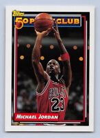 1992-93 MICHAEL JORDAN - Topps 50 Pt. Club Basketball Card #205 - Chicago Bulls