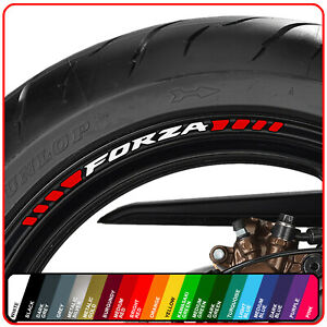 Honda FORZA wheel rim stickers decals - many choice of 20 colours - 125 300