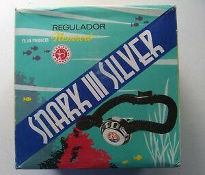 Vintage Nemrod SNARK III SILVER Dual Hose SCUBA Regulator in Box