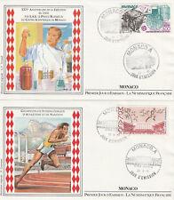 MONACO 1er jour 1985 : Championnats : N°1475 & 1476