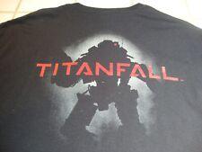 TITANFALL T-Shirt EA Black & Red Print Short Sleeve Respawn Ent Mens Large NEW