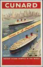 Metal Sign Cruise Ship Liner Travel Poster C17 A4 12X8 Aluminium Vintage Retro S