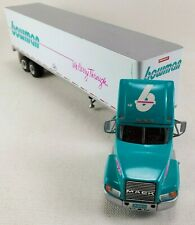 PEM Blue Silver Die Cast Metal Mack CH600 Bowman Tractor With Trailer