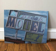 Desperate Enterprises Anthony Roberts Beach Motel Metal Wall General Store Sign