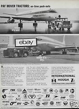 PAN AM 1966 BOEING 707 & DC-8 JET CLIPPERS PAY MOVER TRACTORS WET OR DRY AD