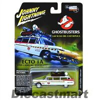 GHOSTBUSTERS ECTO-1A MOVIE 1959 CADILLAC ELDORAD 1:64 JOHNNY LIGHTNING JLSS004